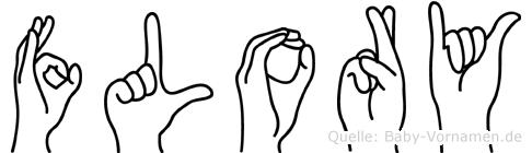 Flory im Fingeralphabet der Deutschen Gebärdensprache