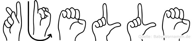 Kjelle im Fingeralphabet der Deutschen Gebärdensprache