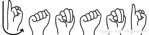 Janani in Fingersprache für Gehörlose