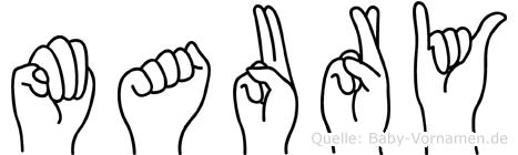 Maury in Fingersprache für Gehörlose