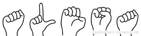 Alesa im Fingeralphabet der Deutschen Gebärdensprache