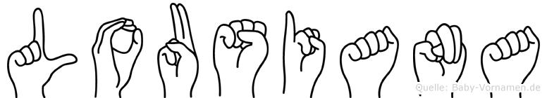 Lousiana in Fingersprache für Gehörlose