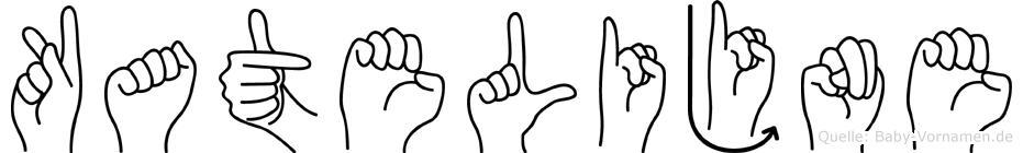 Katelijne im Fingeralphabet der Deutschen Gebärdensprache