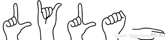 Lylah im Fingeralphabet der Deutschen Gebärdensprache