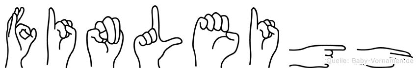Finleigh in Fingersprache für Gehörlose