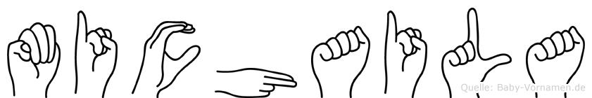 Michaila im Fingeralphabet der Deutschen Gebärdensprache