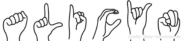 Alicyn in Fingersprache für Gehörlose