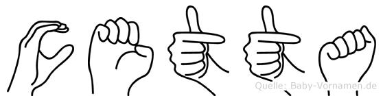 Cetta in Fingersprache für Gehörlose