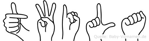 Twila in Fingersprache für Gehörlose