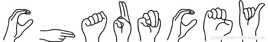 Chauncey in Fingersprache für Gehörlose