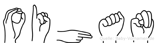Oihan im Fingeralphabet der Deutschen Gebärdensprache