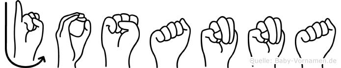 Josanna in Fingersprache für Gehörlose