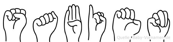 Sabien in Fingersprache für Gehörlose