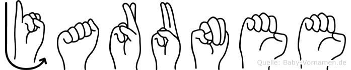 Jarunee in Fingersprache für Gehörlose