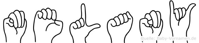 Melany im Fingeralphabet der Deutschen Gebärdensprache