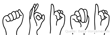 Afini im Fingeralphabet der Deutschen Gebärdensprache