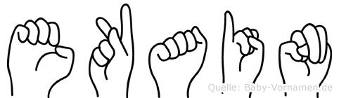 Ekain im Fingeralphabet der Deutschen Gebärdensprache