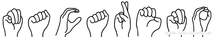 Macareno im Fingeralphabet der Deutschen Gebärdensprache