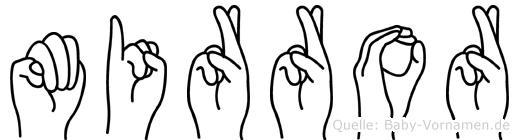 Mirror im Fingeralphabet der Deutschen Gebärdensprache