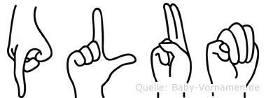 Plum in Fingersprache für Gehörlose