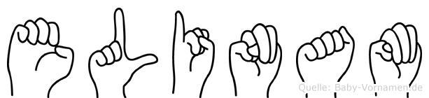 Elinam im Fingeralphabet der Deutschen Gebärdensprache