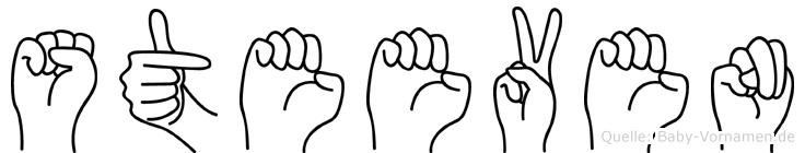 Steeven im Fingeralphabet der Deutschen Gebärdensprache