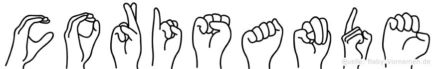 Corisande in Fingersprache für Gehörlose