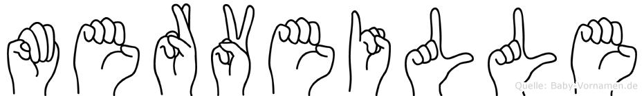 Merveille im Fingeralphabet der Deutschen Gebärdensprache