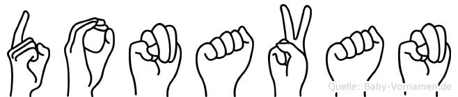 Donavan im Fingeralphabet der Deutschen Gebärdensprache