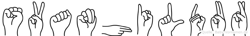 Svanhildur in Fingersprache für Gehörlose