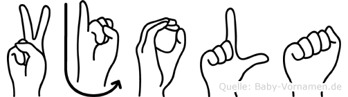 Vjola im Fingeralphabet der Deutschen Gebärdensprache