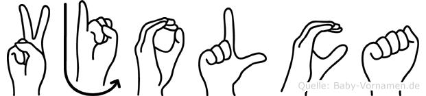 Vjolca in Fingersprache für Gehörlose