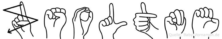 Zsoltne in Fingersprache für Gehörlose