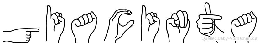 Giacinta in Fingersprache für Gehörlose