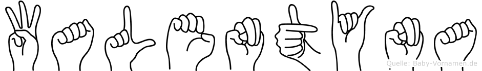 Walentyna in Fingersprache für Gehörlose