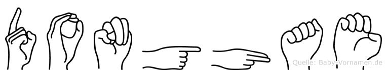 Donghae im Fingeralphabet der Deutschen Gebärdensprache
