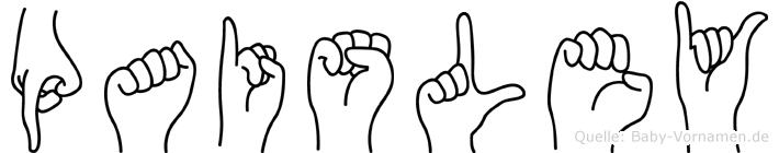 Paisley in Fingersprache für Gehörlose