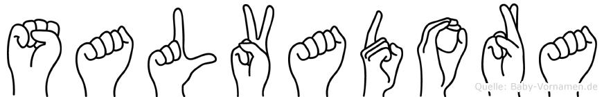 Salvadora in Fingersprache für Gehörlose