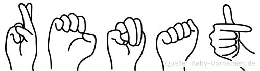 Renat im Fingeralphabet der Deutschen Gebärdensprache