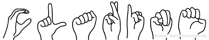 Clarine im Fingeralphabet der Deutschen Gebärdensprache