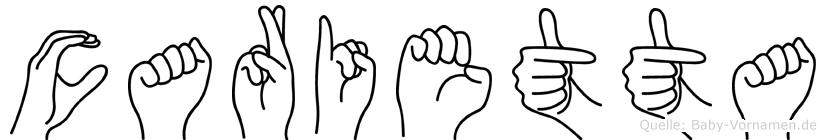 Carietta in Fingersprache für Gehörlose