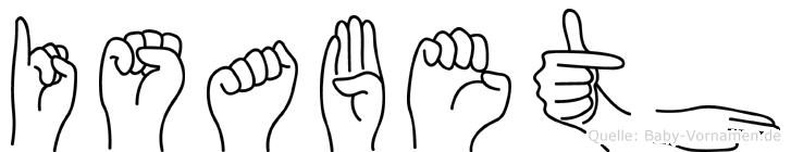 Isabeth in Fingersprache für Gehörlose