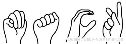 Mack im Fingeralphabet der Deutschen Gebärdensprache