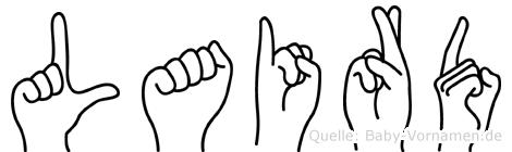 Laird im Fingeralphabet der Deutschen Gebärdensprache