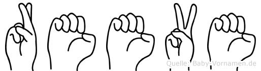Reeve im Fingeralphabet der Deutschen Gebärdensprache