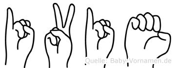 Ivie im Fingeralphabet der Deutschen Gebärdensprache