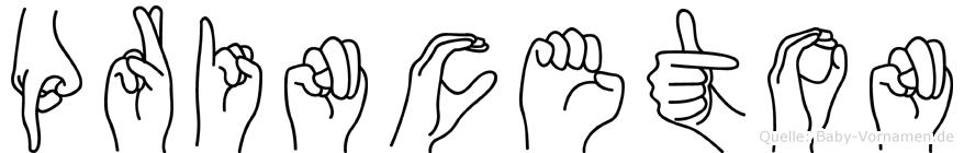 Princeton im Fingeralphabet der Deutschen Gebärdensprache