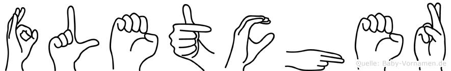 Fletcher in Fingersprache für Gehörlose