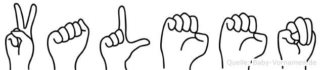 Valeen in Fingersprache für Gehörlose