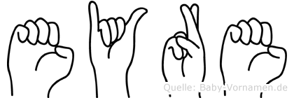 Eyre in Fingersprache für Gehörlose
